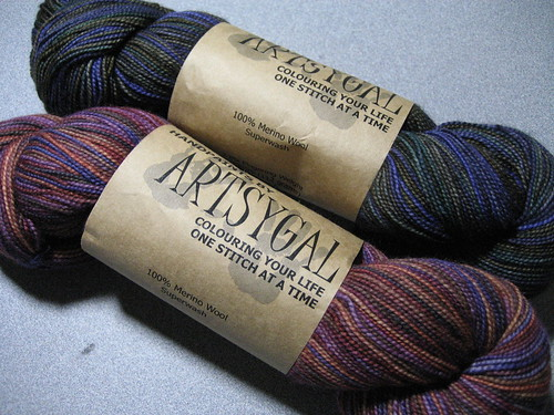 Artsygal sock yarn