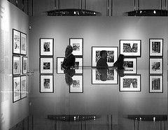 Jewish Historical Museum: Robert Capa retrospective (Akbar Simonse) Tags: bw holland reflection netherlands amsterdam bravo