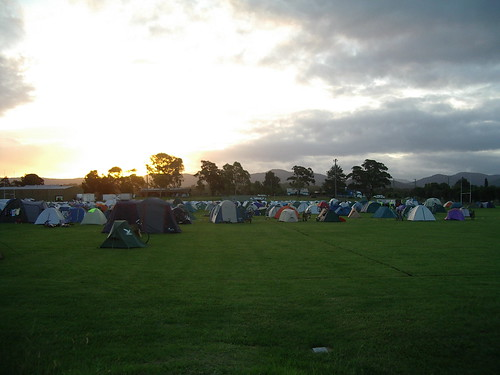 Sunset over Bulahdelah camp
