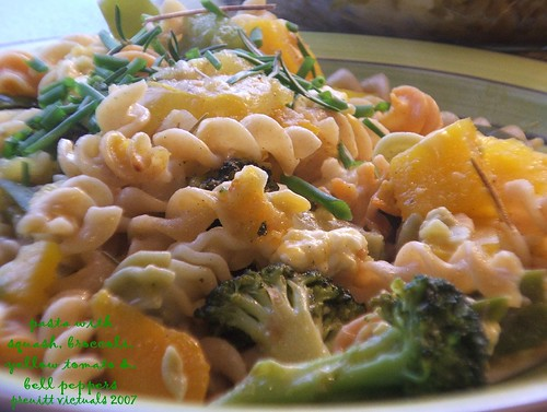 easy recipe squash pasta green herb blogging GHB