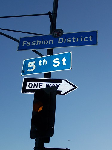 Fashion District neighborhood sign