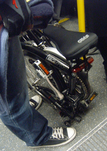 Brompton on the Tube