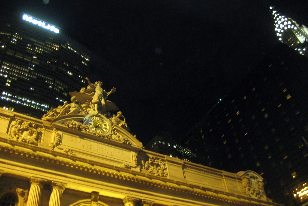 NYC - Grand Central Terminal, MetLife Building and Chrysler Building