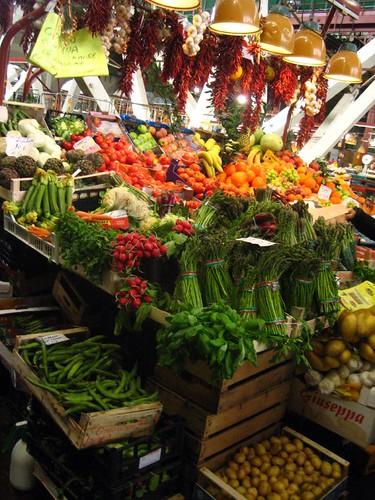 Veggies for sale at Mercato Centrale