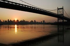 Triborough Bridge (cunningsue) Tags: nyc newyorkcity bridge sunset newyork manhattan queens eastriver astoria manhattanskyline triboroughbridge impressedbeauty cunningsue
