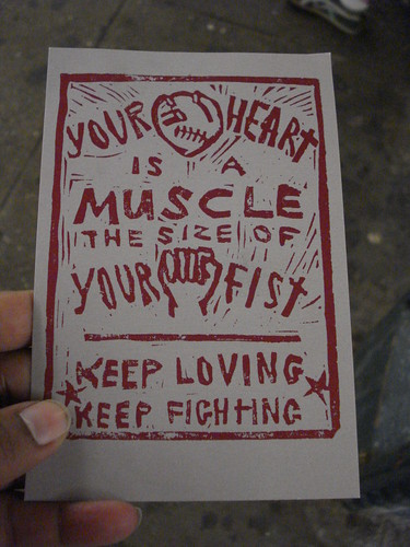 your heart is a muscle the size of your fist. keep loving. keep fighting.