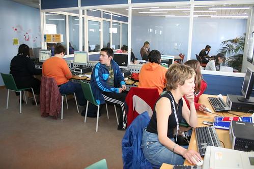 το κέντρο πληροφόρησης της Δημόσιας Βιβλιοθήκης της βέροιας