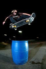One Foot Huck. (Taylor Fitz-Gibbon) Tags: arizona night skateboarding fisheye huck