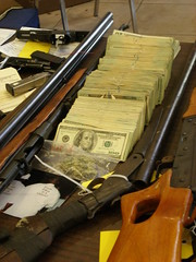 LAPD/ATF Display of Drugs/Guns/Money Captured ...