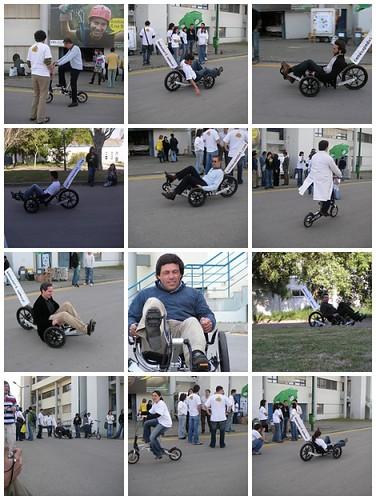 ExpoFCT 2007 - Profs e crew de Ambiente também experimentaram os karts e as Mobikys