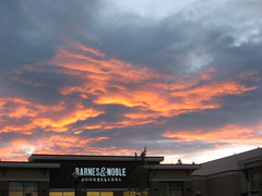 Fire over the B&N (PunkJr) Tags: seattle sunset sky clouds fire bn barnesnoble cwd tacwdd cwd142 cwdweek14