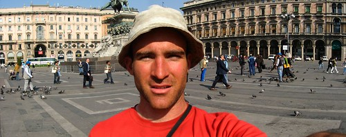 Rob in Piazza Del Duomo, Milano, Italy