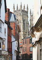 the north-west tower of york minster - england, uk (Paolo Margari) Tags: street york old england english church canon photography town photo foto photographer cathedral britain yorkshire religion photographers historic shops british fotografia canoneos anglican fotografo fotografi italianphotographers paolomargari fotografiitaliani