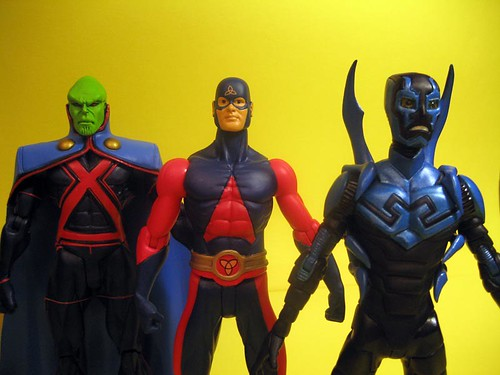 Martian Manhunter, Atom and Blue Beetle