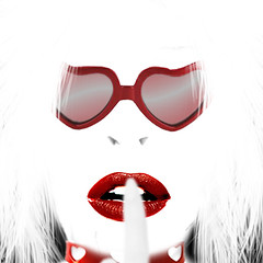 heart (SwEeTcHy) Tags: red portrait white blanco face sunglasses photoshop rojo heart cara lips explore labios gafas corazon impressedbeauty aplusphoto