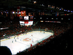 calgary 3 -- detroit 2 (ImagesAndObjects) Tags: canada hockey round1 calgaryflames game4 playoff detroitredwings pengrowthsaddledome schmap canadasgame