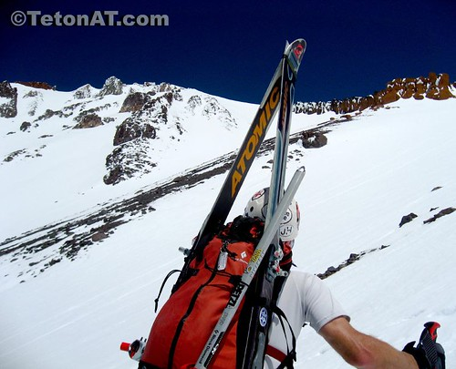 Reed Finlay scopes out the lines in the Trinity Chutes