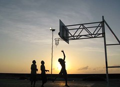 sierra (ahmed (John)) Tags: blue sunset sea sky people sun ball children basket maldives docking supershot