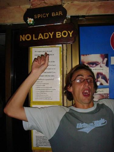 No ladyboy