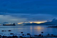 Shivering (_Massimo_) Tags: blue sunset canada vancouver clouds bravo ship britishcolumbia seawall stanleypark secondbeach massimostrazzeri ziomamo