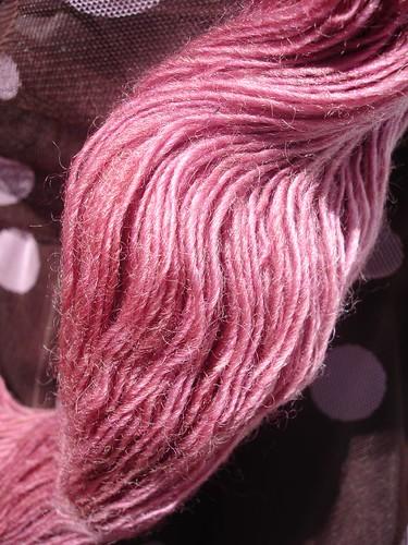 Handpainted yarns laceweight Damask Rose