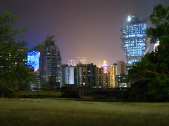 Exploring Macau - View of the city at night