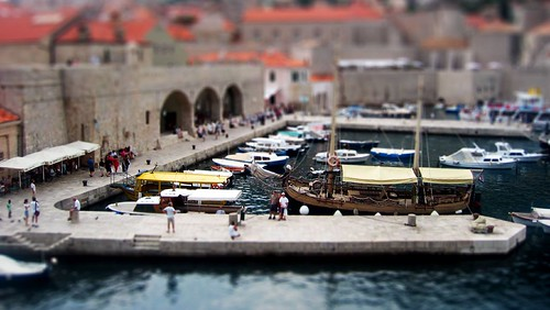 Miniature Model of the harbour of old Dubrovnik