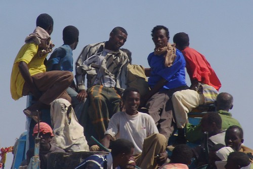Workers on the road to Berbera