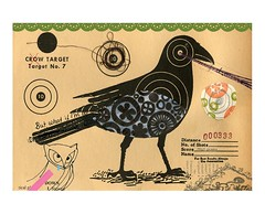 No. 7 (Katey Nicosia) Tags: bird art collage ephemera target crow