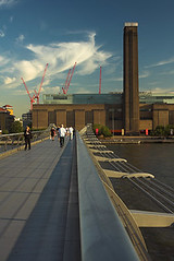 A picture of the Tate from the Millenium Bridge