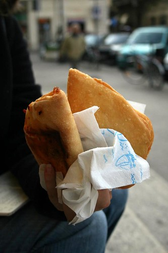 Rustici - like panzerotti - one fried, one baked