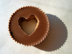 heart inside Reeses cup photo