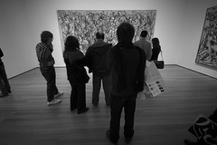 i think it's a commentary on... (richietown) Tags: nyc blackandwhite art topv111 museum canon moma exhibit pollock jacksonpollock 30d sigma1020mm picturesofart richietown