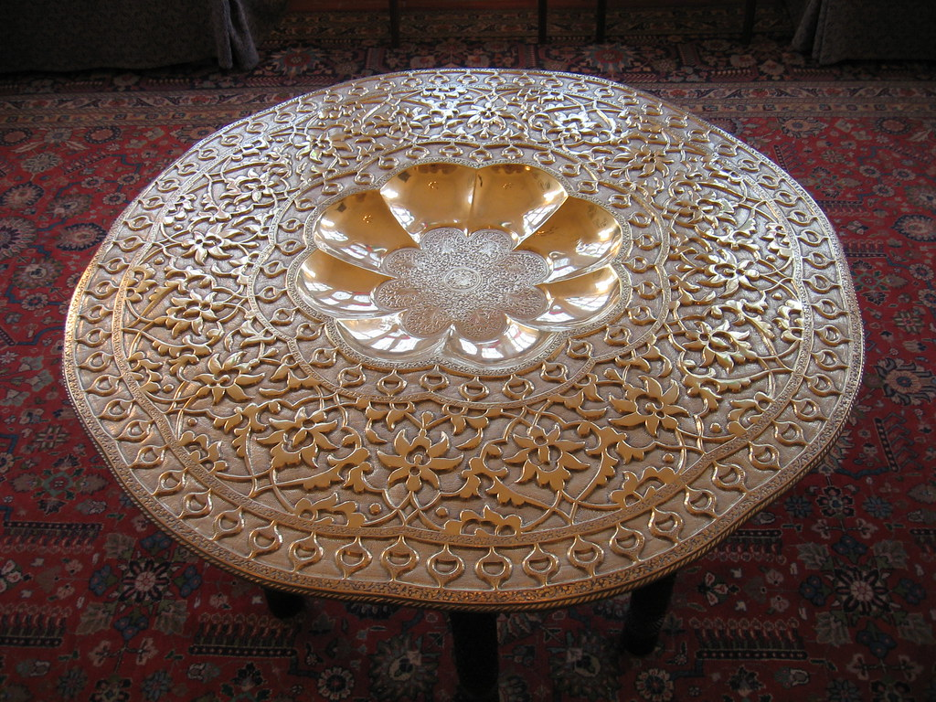 bronze coffee table