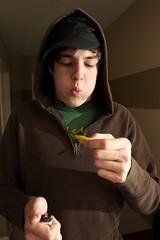 Alex burns thumb. (jroper) Tags: alex pollock alexpollock