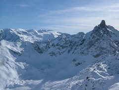 Aiguille Du Fruit, from Saulire (tom_bennett) Tags: ski meribel freshsnow freshminds