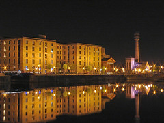 Albert dock Liverpool (Mr Grimesdale) Tags: reflection night liverpool calm nightime 2008 albertdock merseyside capitalofculture tranquill mrgrimsdale stevewallace capitalofculture2008 liverpoolcapitalofculture2008 europeancapitalofculture2008 photofaceoffwinner liverpoolcapitalofculture pfogold mrgrimesdale grimesdale