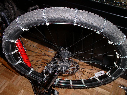 how to make tire chains, bicycle