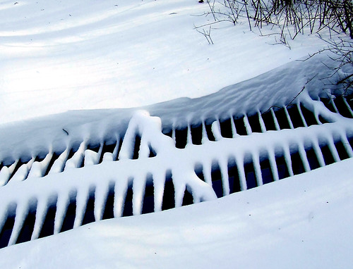 big grate in snow
