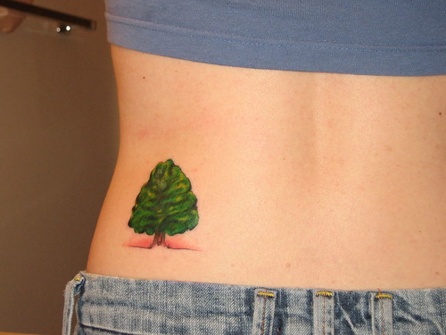 new tattoo. oak tree. tattoo