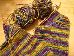 Mardi Gras socks
