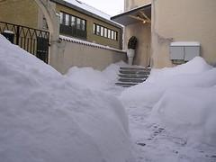 Massor med snö liten