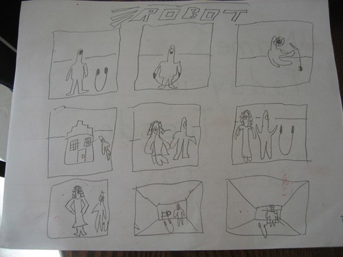 Izzy's Robot Cartoon