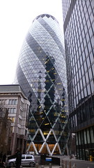 Gherkin showing spiral of light sinside