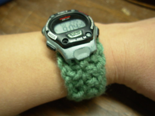 crochet watchband