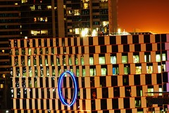 ol' blue eyes (mugley) Tags: city urban architecture night nikon d70 melbourne docklands digitalharbour port1010 sigma300mmf4apotelemacro