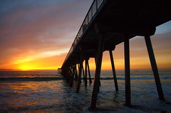 January revisited (C.W. Cohenour) Tags: ocean sunset sky beach water pier pacific southbay hermosa watersky