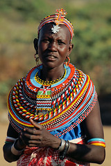 Samburu woman (imanh) Tags: africa portrait people woman color colors village kenya afrika samburu kenia dorp stam iman heijboer imanh