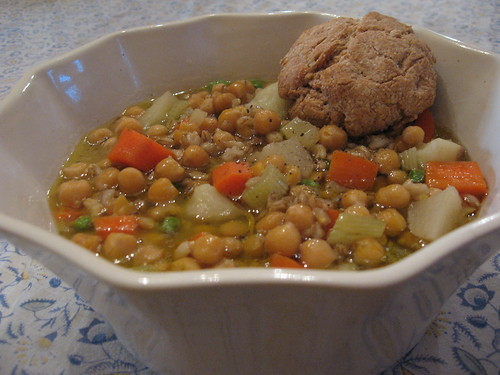 Chickpea Winter Stew & Biscuit