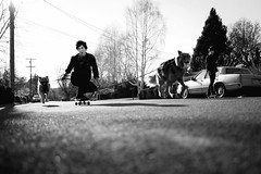 Corey Duffel and his Magical Flying Dogs (It was the light, it was the angle) Tags: chris dogs digital creek canon eos flying skateboarding wc corey skateboard his 5d skater walnutcreek dslr magical pulling sk8 skateboarder puppys duffel doggys larue ineeddadrink 5d365 ef17mm40mm creekinit